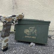 Glock 17 - G17 with cerakote, laser engraving, stippling. best custom gun shop.