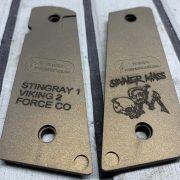 Custom 1911 grips. Custom engraving for recon sniper foundation.