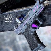 Glock 19 - G19 with stippling, cerakote, RMR cut, frame modifications. best custom gun shop