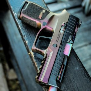 Sig Sauer p320 w Faxon Threaded Barrel, Apex Triger, and Norsso Slide