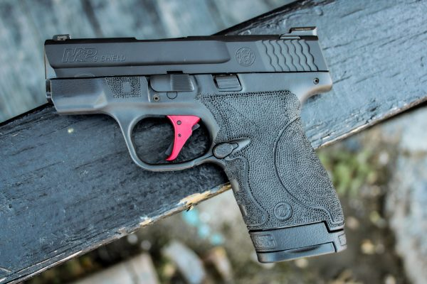 M&P Shield 9mm w Red APEX Trigger and Ameriglo Sights